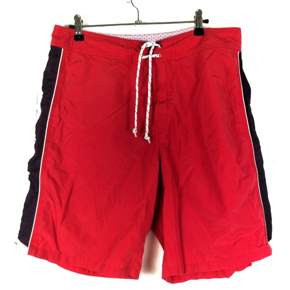 Polo by Ralph Lauren Other - Ralph Lauren Polo Sport Red Striped Swim Trunks